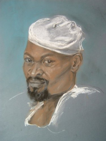 Portrait, pastels, Ayub
